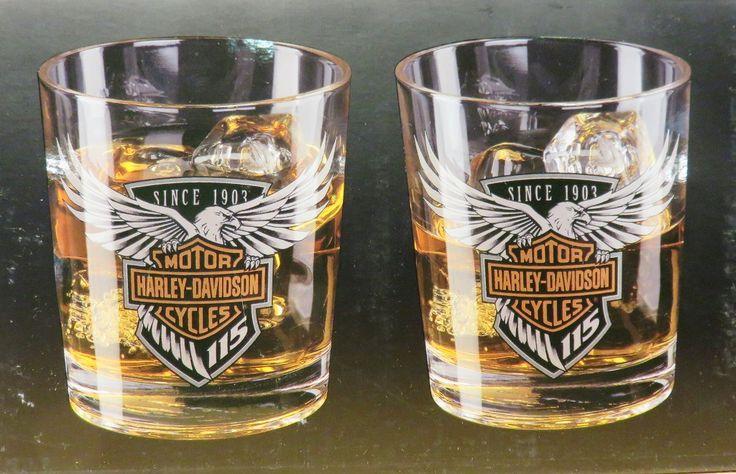 Harley-Davidson whiskey glasses
