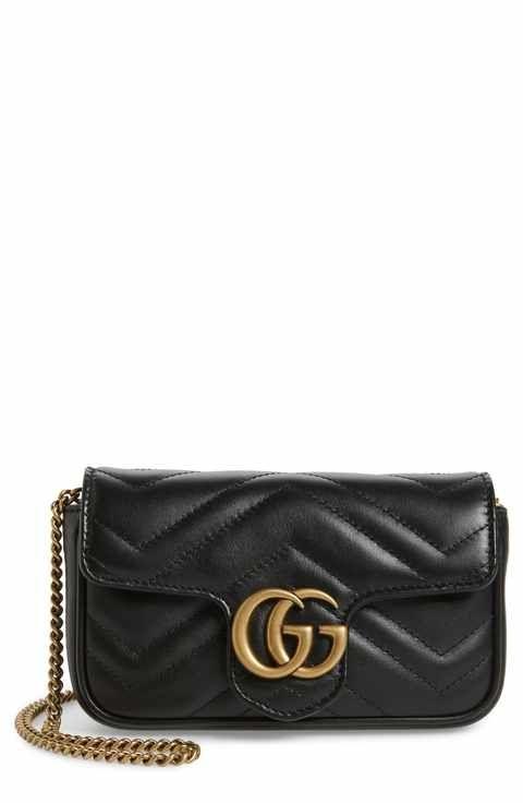58c320011 Gucci Supermini GG Marmont 2.0 Matelassé Leather Shoulder Bag | KN ...