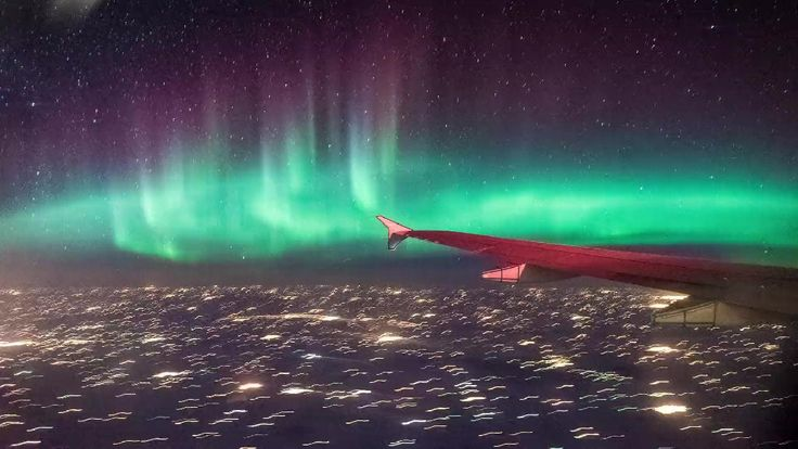 "This geomagnetic storm was captured on January 31 from an airplane flying east over the Canadian Prairies, stretching from Moose Jaw to the Great Lakes. Geomagnetic storms produce ""auroral currents�"