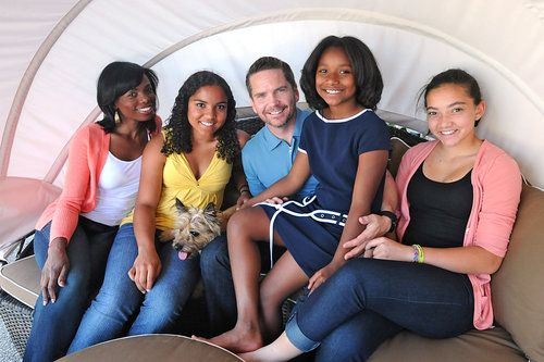 Chef Evelyn Paul, husband Andrew and their beautiful daughters.