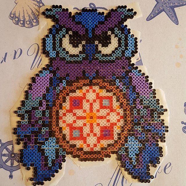 Owl dreamcatcher hama beads by drawbienchen (1/2)