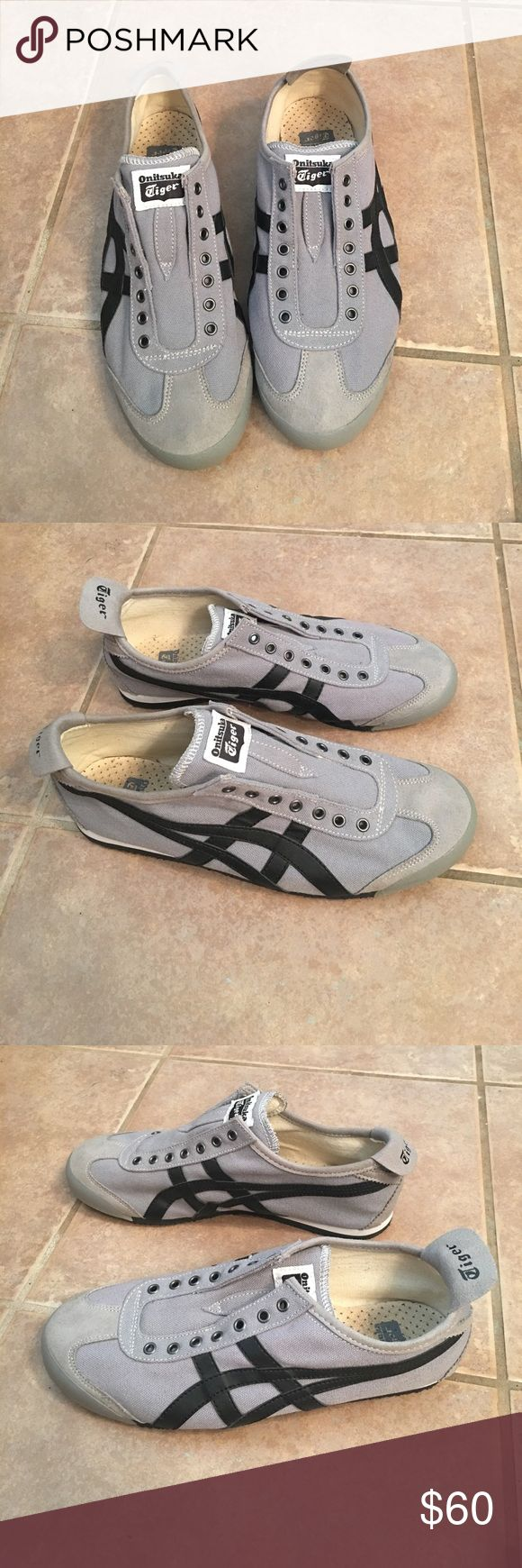 Men's Onitsuka Tiger slip-on athletic shoes Excellent used condition as pictured. No-lace. Ideal athleisure shoe! Goes with just about any outfit. Onitsuka Tiger by Asics Shoes Athletic Shoes