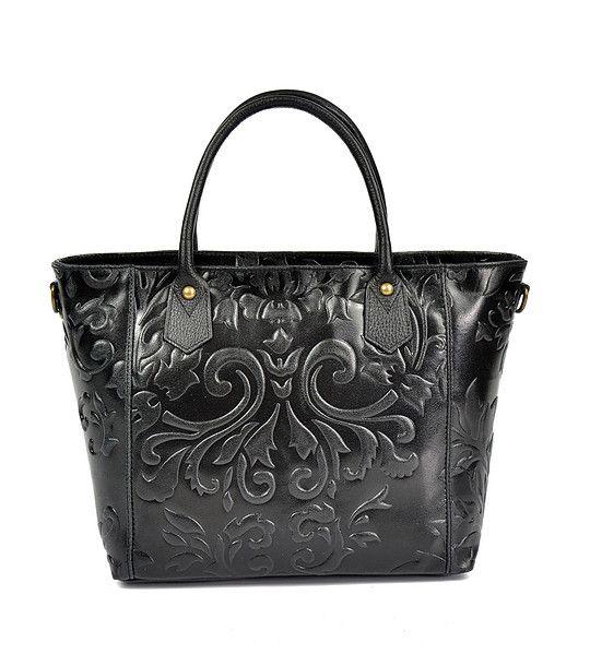 FashionSupreme - Geantă neagră din piele naturală Tamara - Accesorii - Genţi - Carla Ferreri - noua colecție de primăvară-vară. Haine şi accesorii de marcă. Haine de designer.