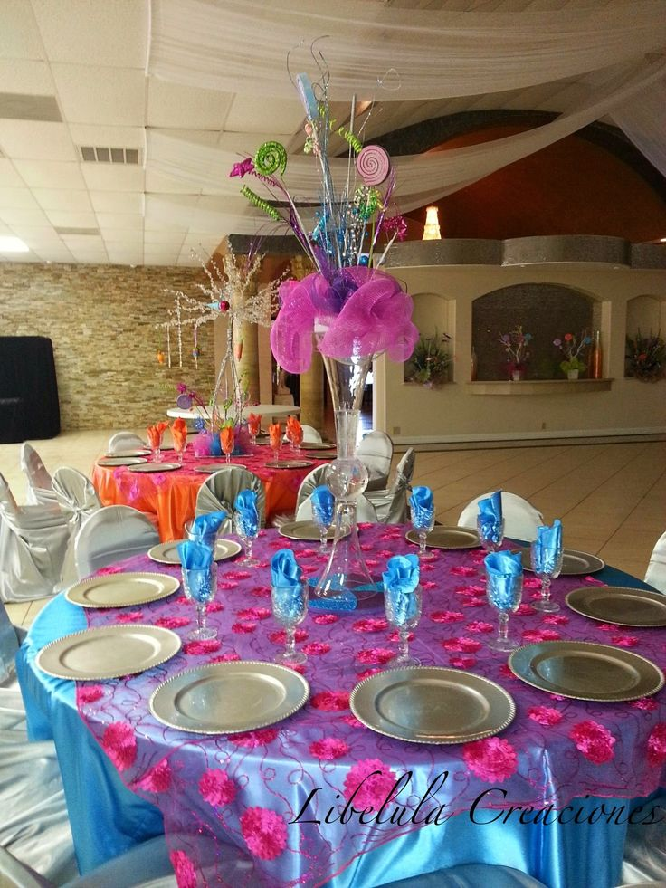 24 best quincea eras decoraciones images on pinterest for Decoracion mesa centro