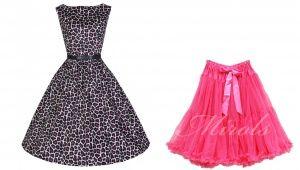 Lindy bop Audrey Leopard dress & pink petticoat