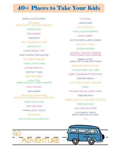 40 fun places to take kids near me free printables pinterest