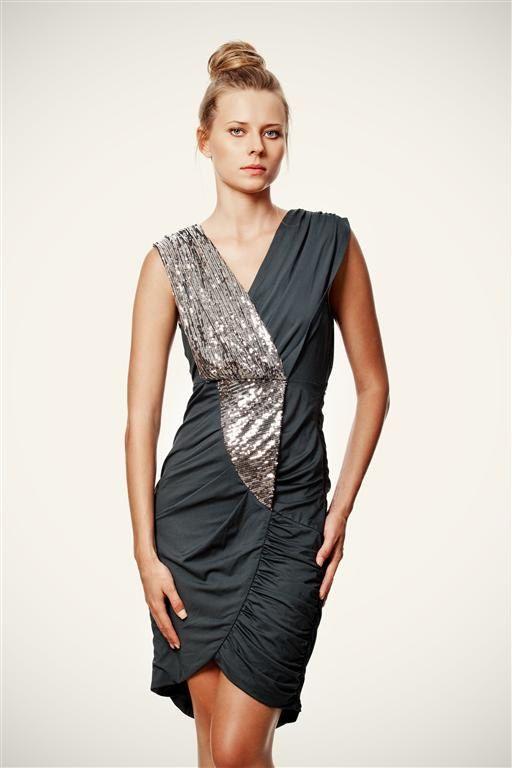 50 SALE Navy Stretch Evening Ray of Light Dress by VandaFashion, $50.00