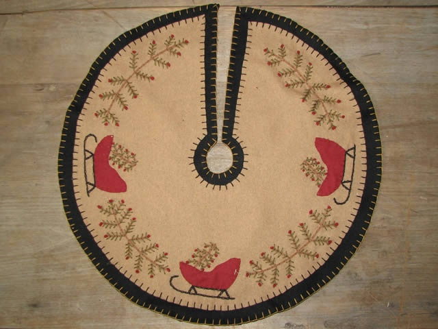 Sleigh Penny Tree Skirt From Country Primitive Gatherings