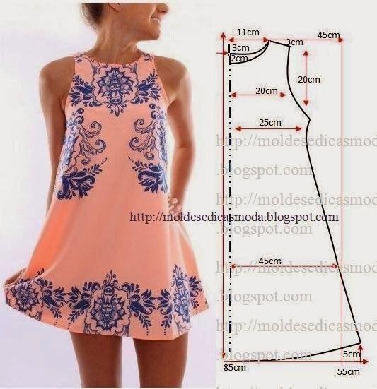 Шитье выкройки легких платьев
