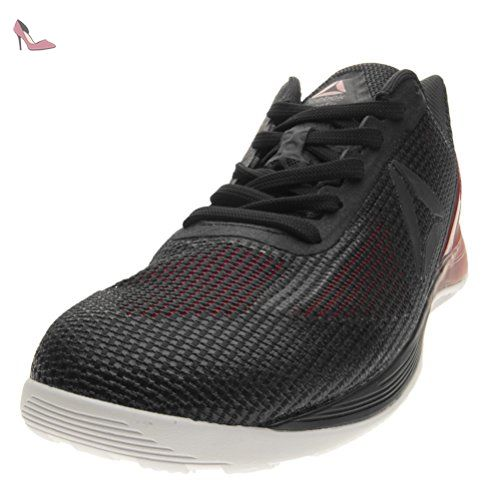 Reebok Fire TR, Chaussures de Fitness Homme, Gris (Alloy/Coal/White/Primal Red), 44 EU