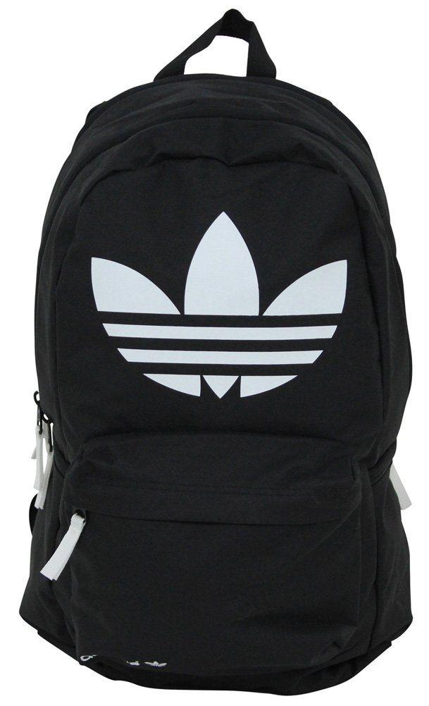 Adidas Originals Burns Backpack Bag Gym Trefoil Logo Black/White