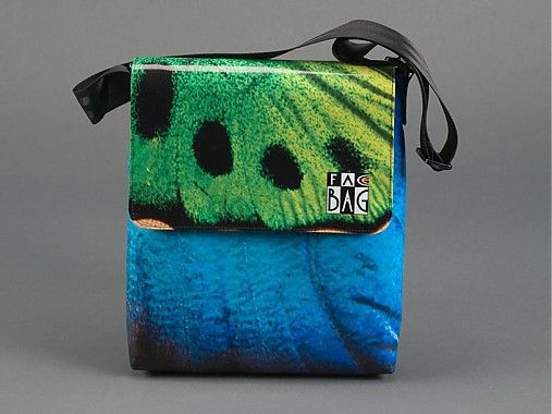 facebag / Motýlia modrozelená