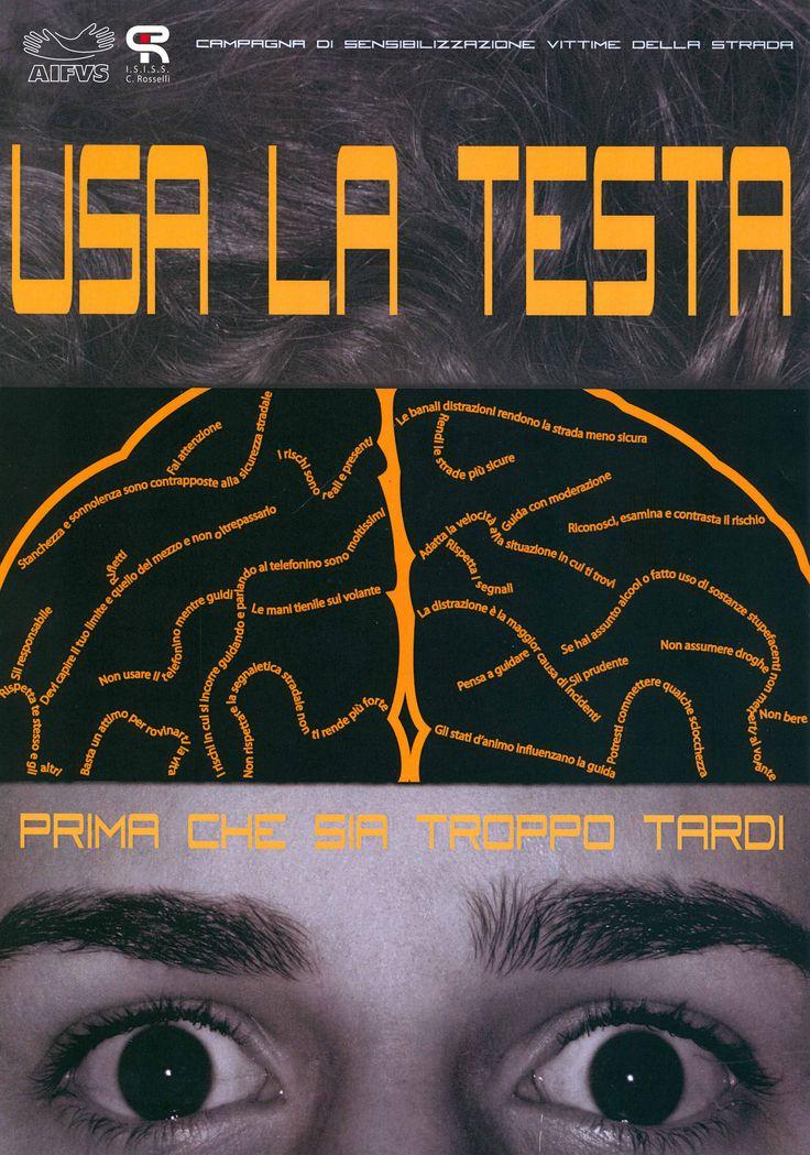 Usa La Testa - Manifesto - Poster - Melissa Gubert - ISISS Rosselli