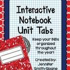 Unit Tabs - Ready to stay organized this year and be able to find each and every unit that you teach and/or learn quickly and easily?  Included are two differe...