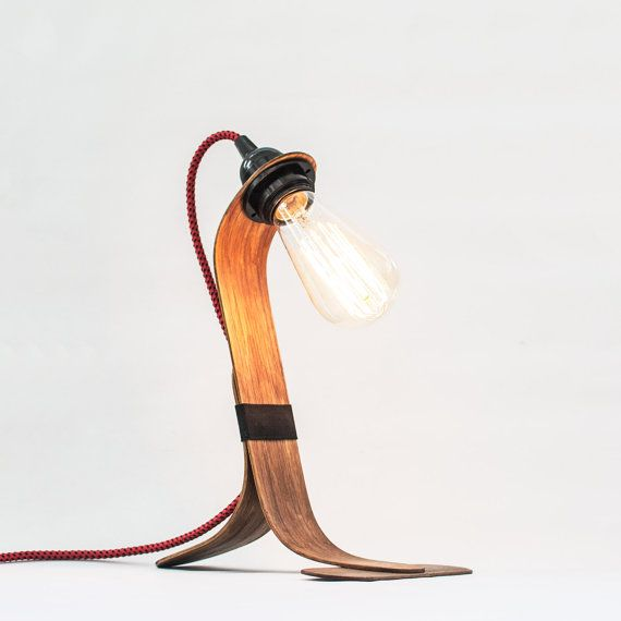 8 best Handmade curved wood nordic table lamp images on Pinterest ...