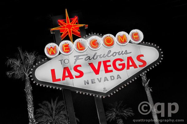 Las Vegas Sign in Red. Las Vegas, NV. Prints available