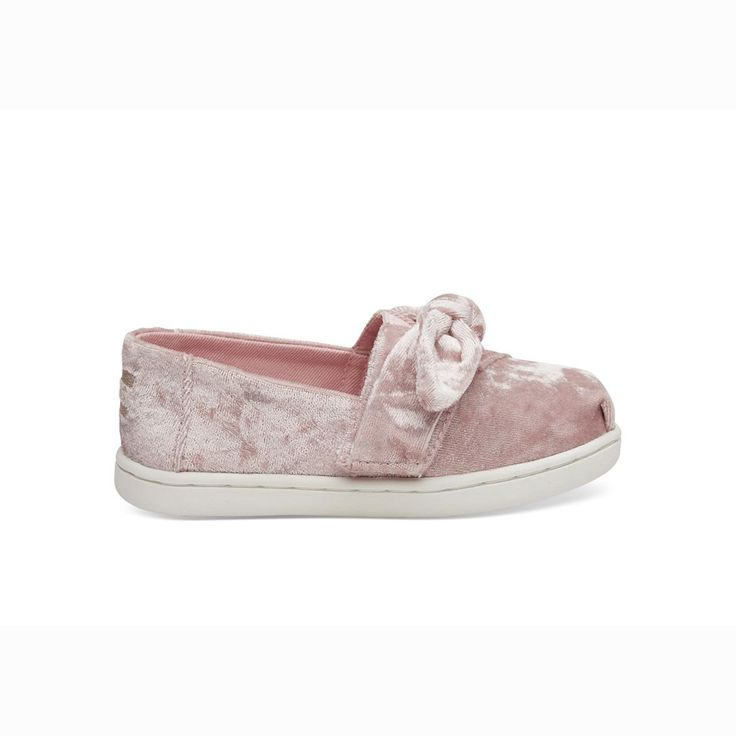 TOMS Kids Shoes Light Faded Rose Velvet Tiny TOMS Classics