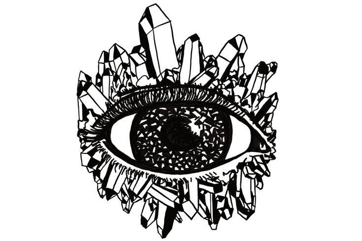 Ace of Pentacles - Tarot Deck Digital Art Giclee Print - A4 A5 Black & White Geometric Card - Third Eye Wide Crystal Gem Jewel Quartz Point by Inklining on Etsy https://www.etsy.com/au/listing/587542901/ace-of-pentacles-tarot-deck-digital-art