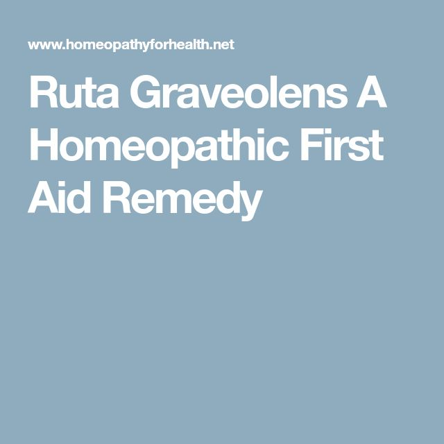 Ruta Graveolens A Homeopathic First Aid Remedy