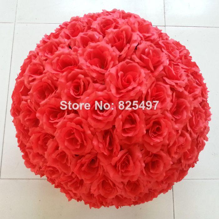Искусственные цветы Розы Букеты Свадебные украшения Розовые розы Бал 15см 20CM 25CM 30см Свадебный Роуз Болл Более Интенсивный 20.77