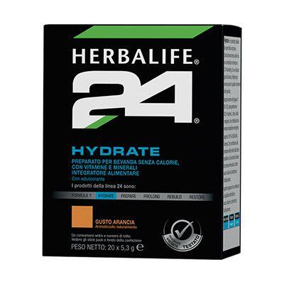 Hydrate è una bevanda elettrolitica senza calorie per reintegrare i liquidi. Apporta il 100% della RDA della vitamina C che aiuta a ridurre stanchezza e affaticamento. Le vitamine del gruppo B (B1, B2, acido pantotenico e B12), calcio e magnesio per favorire il metabolismo energetico.