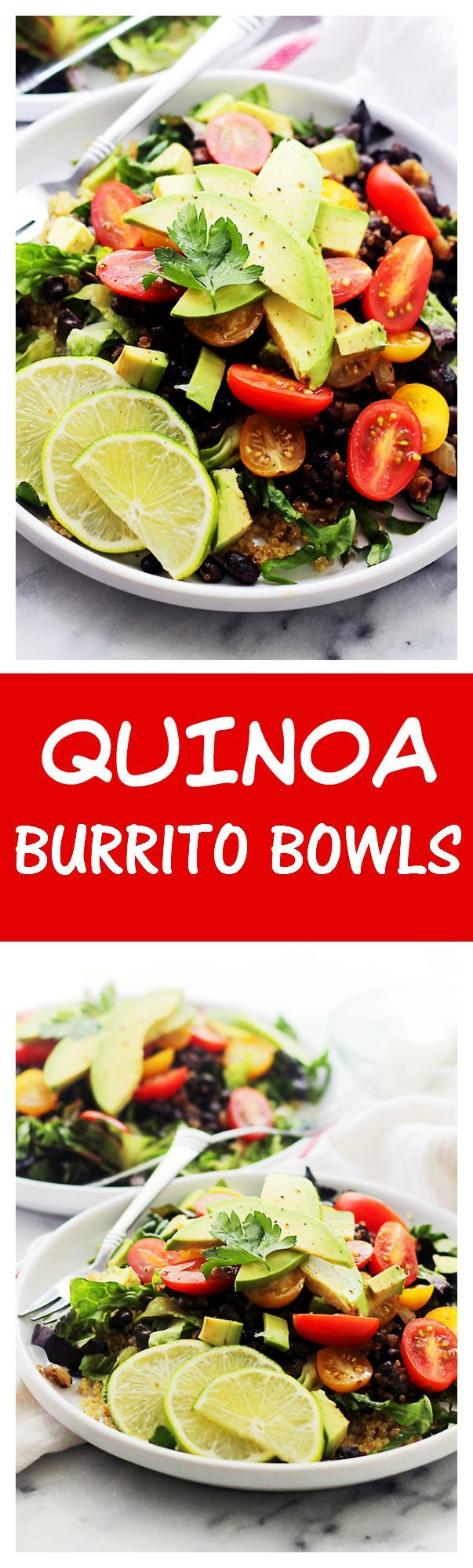 Burrito Bowls   www.diethood.com   Healthy, homemade burrito bowls ...