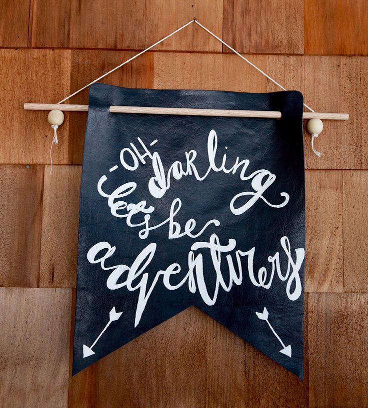 Oh Darling Leather Banner | Encourage a spirit of liveliness and adventure with this cheer... | Signage