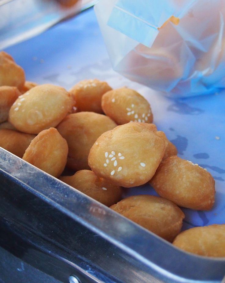 Laos. Lao street food. Laos donuts. Yum! Luang Prabang http://worldtravelfamily.com