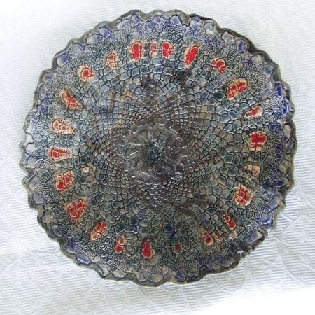 Ceramiczna patera Pawi Ogon