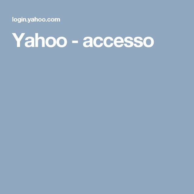 Yahoo - accesso