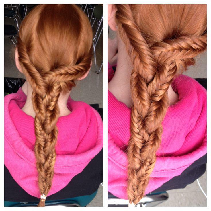 Enjoyable Hairdos Fishtail And Strands On Pinterest Hairstyles For Women Draintrainus