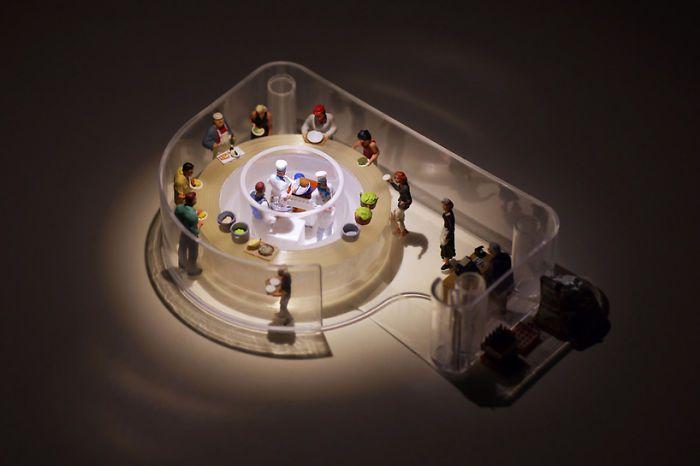 Miniature dioramas by Tatsuya Tanaka
