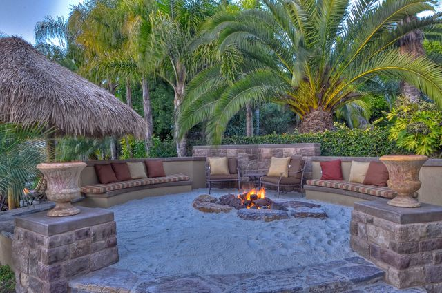 Beach sand fire pit #backyards #firepit #beach
