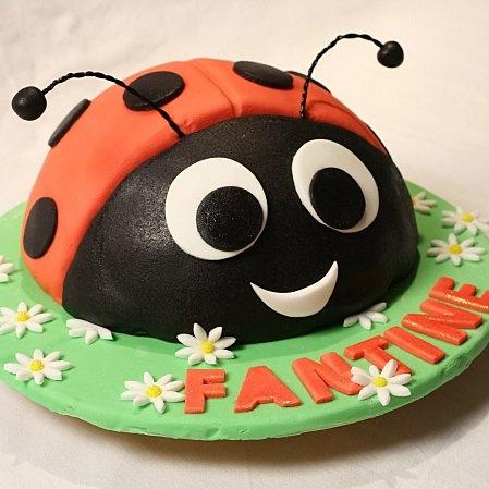 Coccinelle facile en 3D / Ladybird cake - La popotte de Manue