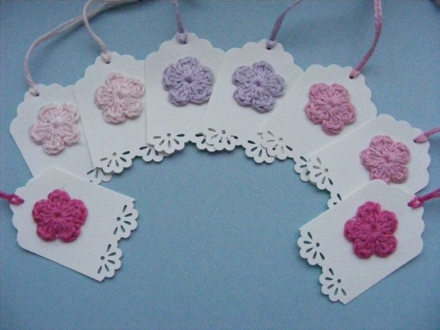 Wedding place cards, name tags, favour tags Mini gift tags x 8 £1.25