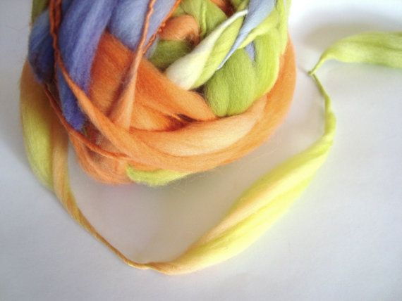 Handspun Thick and Thin Merino Yarn by deorigenchile on Etsy, $25.00