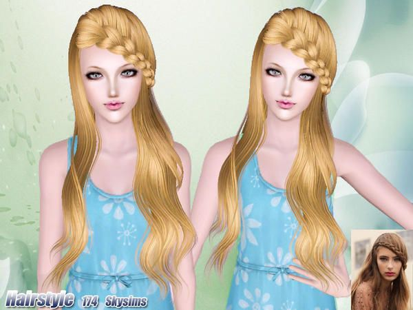 Phenomenal 41 Best Images About Sims 3 Customcontent Hair On Pinterest Kim Hairstyles For Women Draintrainus