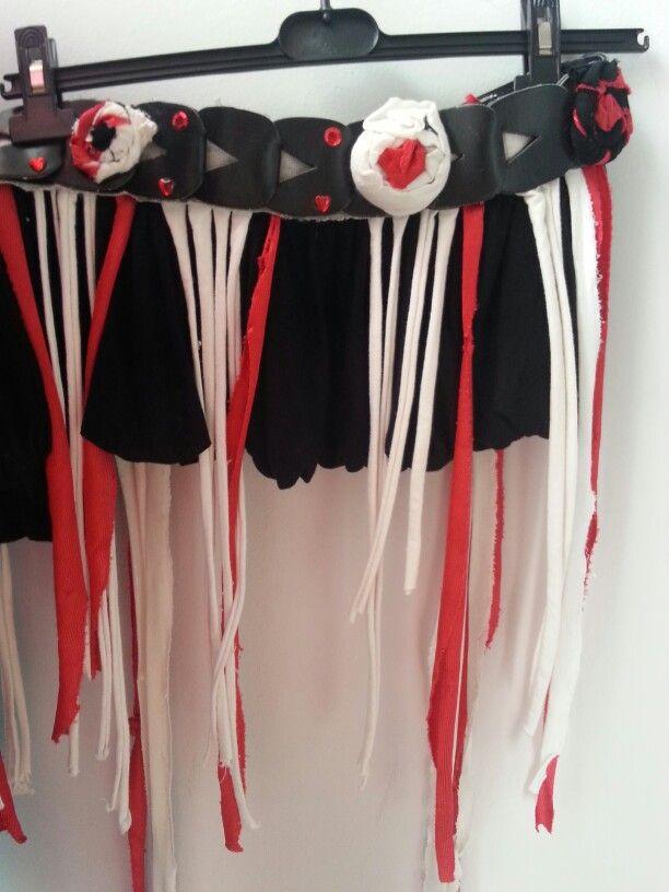 Funky red&black tribal belt