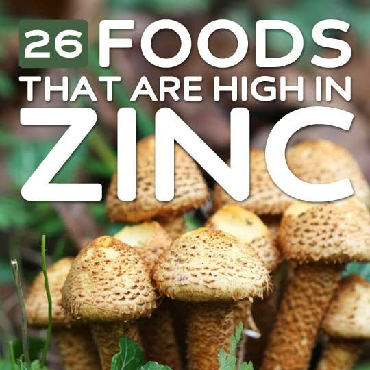 26 Foods High in Zinc- for overall good health.