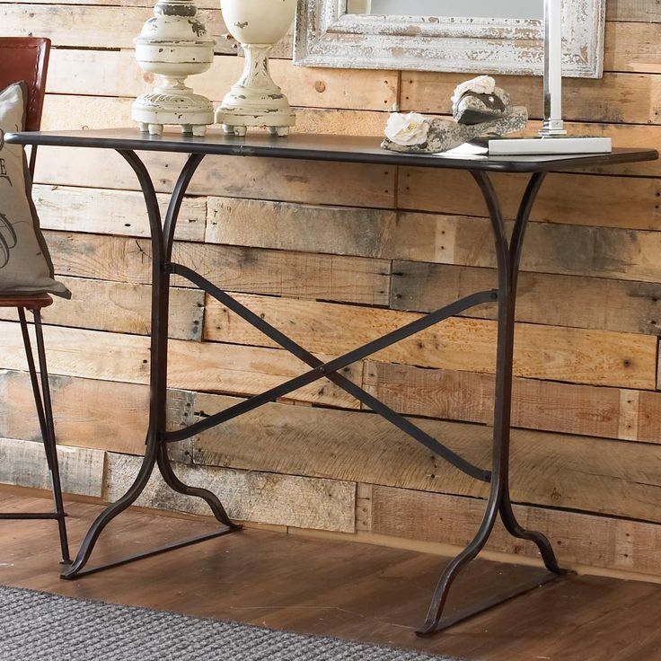 Iron Table Desk A natural fit for smaller spaces, this versatile Iron Table Desk brings vintage industrial flair.