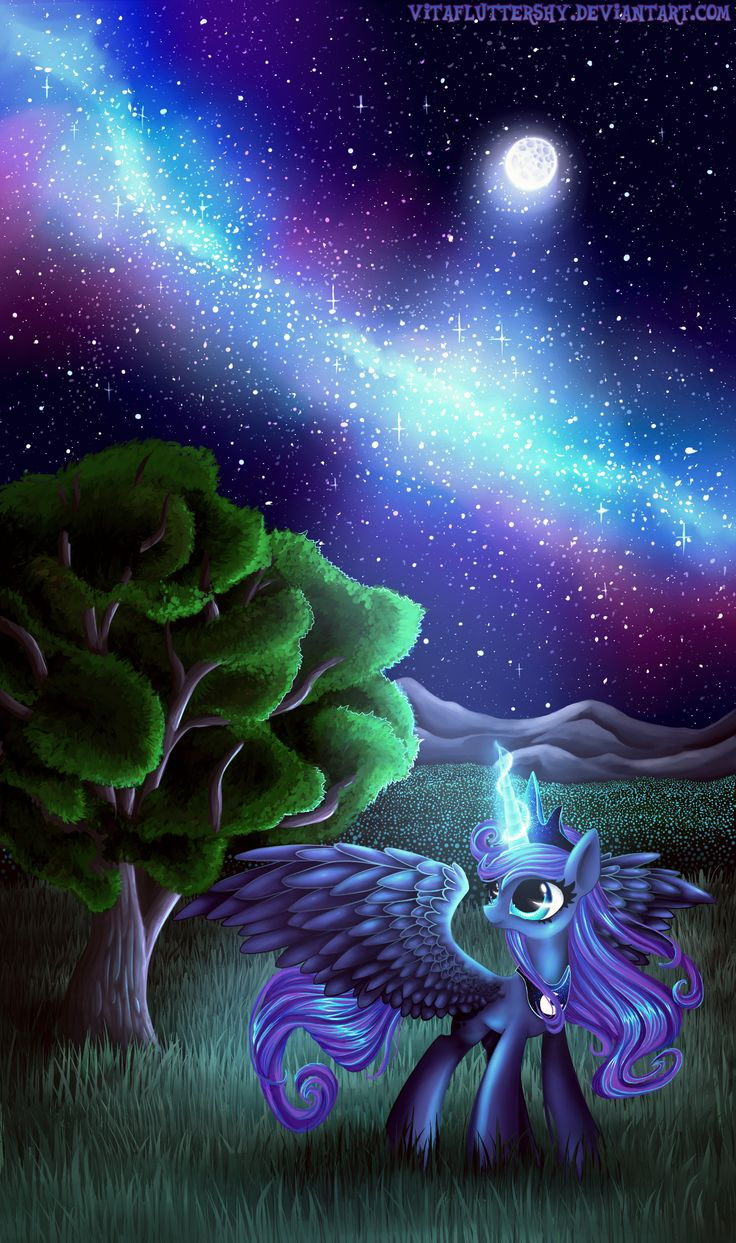 Starry night by ~VitaFluttershy on deviantART