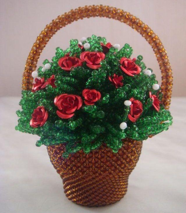 запрещай цветы в корзине из бисера фото роман съемочной