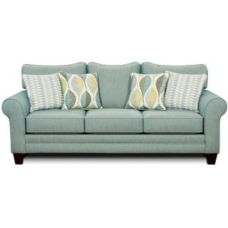 Furniture of America Springfall Contemporary Soft Teal Sofa | Overstock.com Shopping - The Best Deals on Sofas & Loveseats