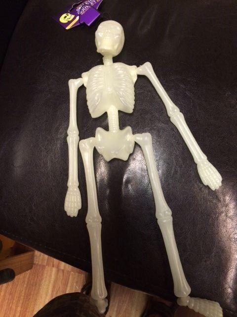 """16"""" Halloween Skeleton Hanging Prop Decor Yard Indoor Party Grave GLOW IN DARK #GreenbrierIntl"""