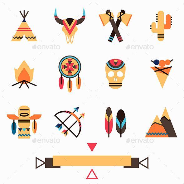 Tribal Icons Set - Miscellaneous Conceptual