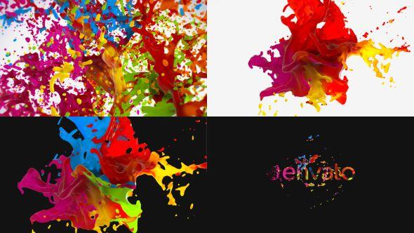 Liquid Paint Splash Logo Paint Splash Liquid Paint Flower Logo