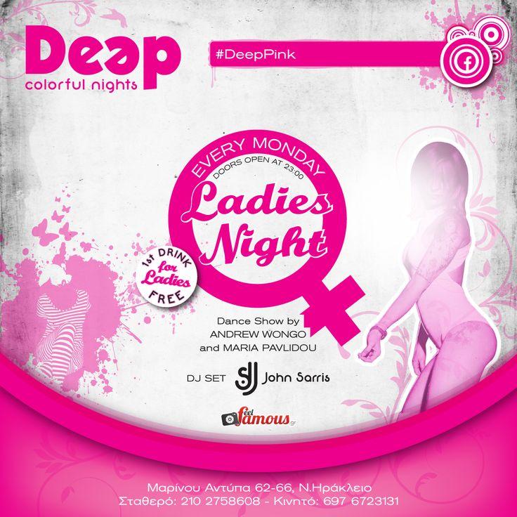 #DeepPink #MondayNights #LadiesNights ~ Guest Dance Show Maria Pavlidou - Andrew Wongo