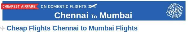 Book Your Flights from Chennai to Mumbai only with Goibibo.com. Find the best deals, offers and make your  flight booking at the lowest prices. At Goibibo, you can find many airlines which provide connecting flight from Chennai to Mumbai like Jetlite, Jet Airways, Air India etc. Also, get to know about Chennai and Mumbai in brief. Goibibo also provides bus and hotel booking services at affordable prices.