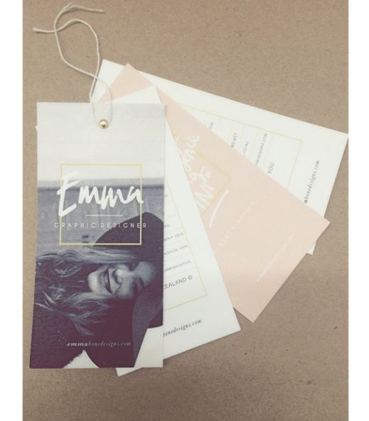 Self Promotion swing tags on Behance
