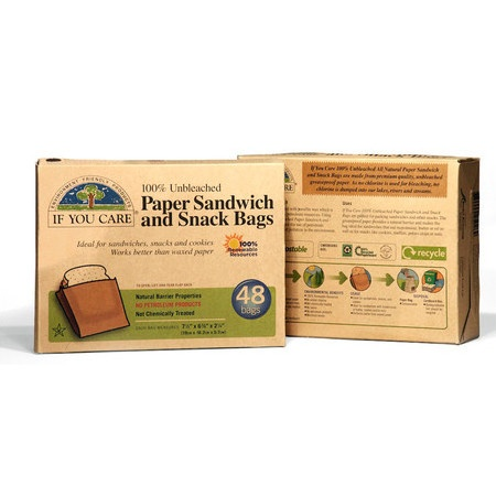 If You Care Snack and Sandwich Bags. Found at Nourished Life - living toxic free in the city.
